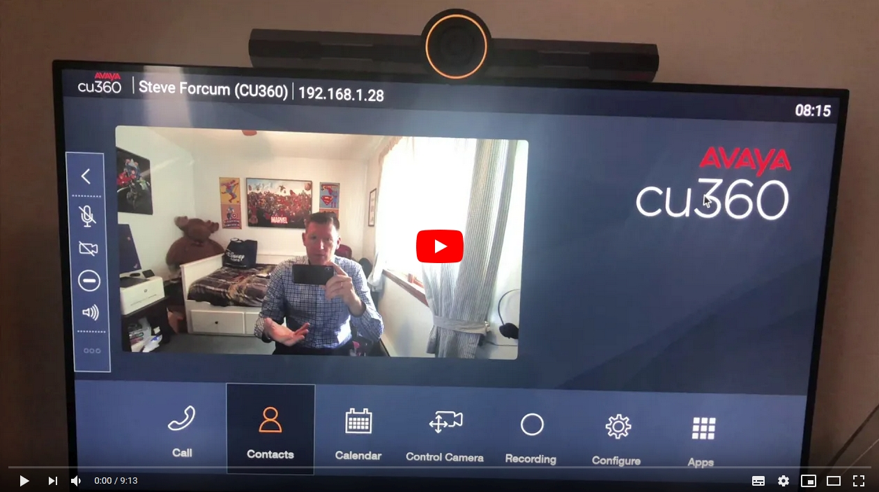Video zum ersten Erfahrungen mit der AVAYA CU-360