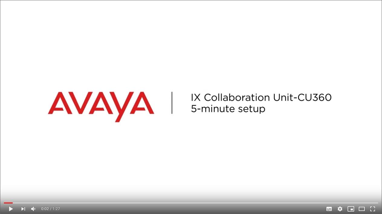 Video zur Installation der AVAYA CU-360