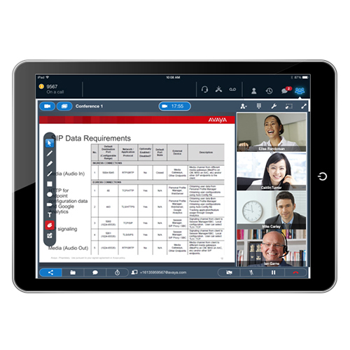 AVAYA Communicator for iPad