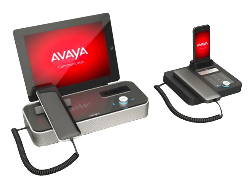 Mediastation von AVAYA: Die Media Station E169 (links) und AVAYA Media Station E159.